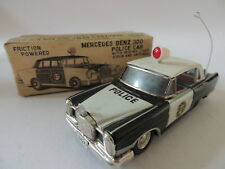ANTIQUE TOY - MERCEDES BENZ 300 POLICE CAR - ICHIKO - MADE IN JAPAN - 60'