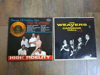 Lot of 2 Records The Platters Golden Hits & The Weavers Vol.2 LP Vinyl 33 RPM