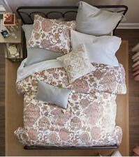 Jc Penney Home Amelia Pillow Sham Set King Paisley Ikat Bohemian Cotton Zip