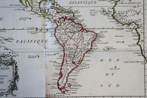 1787 Antique Map Carte géographique Amériques America naviagation hollandais