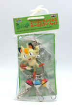 "Pokemon Meowth 2"" keychain figure toy charm set pokeball clip Japan carabiner"