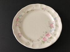 "Pfaltzgraff TEA ROSE Pink Roses Blue Flowers - 10-3/8"" DINNER PLATE"