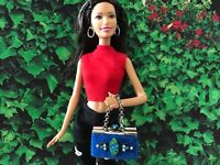 Barbie Doll Purse OOAK Royal Blue Handbag/Purse