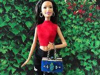Barbie Doll Purse OOAK Royal Blue Handbag/Purse