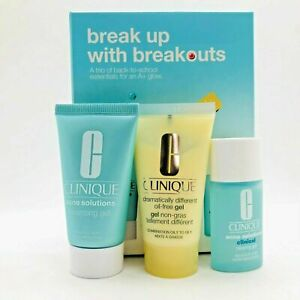 Women's CLINIQUE BREAK UP WITH BREAKOUTS  SET ACNE FIGHTERS NEW IN BOX FREESH