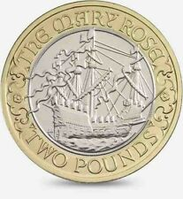 2011 £2 MARY ROSE 500TH ANNIVERSARY TWO POUND COIN HUNT 22/32 RARE BI-METAL 2 xx