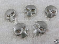 25 Hotfix Nailheads tête de mort Skull Rivets à repasser Glitter argent
