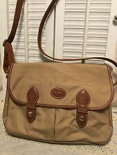 Longchamp Khaki Tan Nylon Convertible Crossbody Messenger Shoulder Handbag