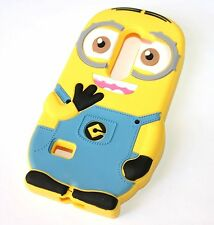 For LG Tribute 2 LS665 - Soft Rubber Silicone Skin Case Cover Cute Yellow Minion