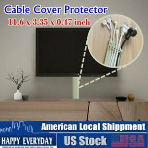 """11.6"""" Floor Cord Protector Covers Cables Wires Home Office Walkway Wire Hider"""