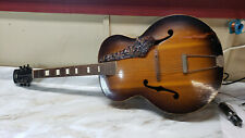 Vintage 1950 Gretsch New Yorker arch top six string acoustic guitar