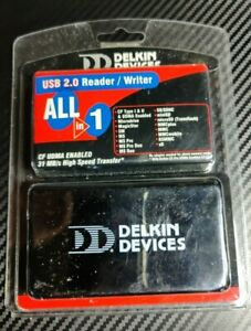 Delkin Devices 18-in-1 USB 2.0 Flash Memory Card Reader Free S/H