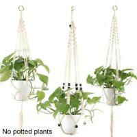 Macrame Plant Hanger Indoor Hanging Garden Planter Basket Flower Pot Rope Holder