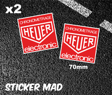 HEUER CHRONOMETRAGE ELECTRONIC Stickers 7cm Gloss Vinyl ( High Quality ) Lemans