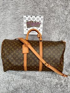 Authentic Louis Vuitton Keepall-Bandolier-55 with strap