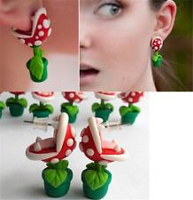 Carnivorous Plant Flower Red Stud Earrings Ear Earring Kids