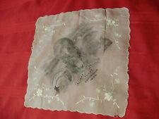 1909 ALASKA-YUKON-PACIFIC EXPOSITION - Seattle - Silk Embroidered Hankie