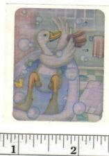 Small Vintage Acard Stickermania Duck Bath Glossy Sticker