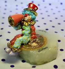 2000 Ron Lee Clown Figurine Sitting Down Holding Megaphone Cheer Signed Numbered