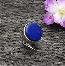 Echte Edelstein-Ringe mit Lapis Lazuli und Cabochon für Unisex