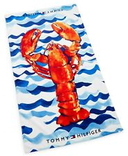 NEW Tommy Hilfiger Oversized Beach Towel Lobster w/ Waves New with Tags