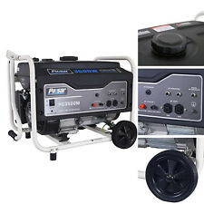 3,500W Portable Gas-Powered Generator with Mobility Kit Single Cylinder 4-Stroke