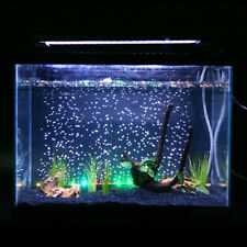 10 LED Aquarium Fish Tank Light RGB Colour Changing Air Bubble Lamp Submersible