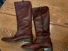 Frye Womens Button Tall Brown Riding Boots Size 11