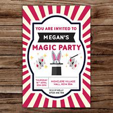 10 *PERSONALISED* invitations MAGIC PARTY magician BIRTHDAY invites MAGICAL