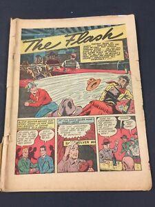 FLASH COMICS 13, G/VG, 1940s DC COMICS, COVERLESS  MISSING CENTERFOLD
