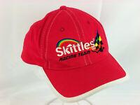 Skittles Racing Team Hat Cap #36 NASCAR Red Snapback