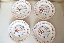 4-Vintage Farberware 1995 White Christmas #391 Dessert Plates