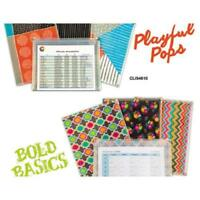 C-Line Products 54610 Playful Pops And Bold Basics Zip 'n Go Reusable Envelope,