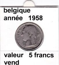 FB )pieces de baudouin  5 francs 1958  belgique