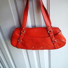 Cole haan Burnt Orange Leather Handbag purse shoulder  bag a1