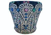 Vintage Amphora Pottery Jeweled Art Nouveau Cachepot Planter