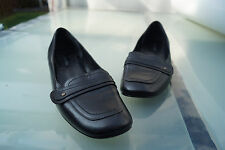 schicke MORE & MORE Damen Schuhe Pumps Gr.38 Leder schwarz TOP  #y