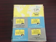 Vintage International Yellow Pages Telephone Book - 1966