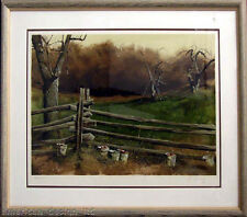 "Adolf Sehring ""Pruning"" with Custom frame Hand Singed Make an Offer!"