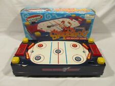Vintage SLAPSHOT Electronic Air Hockey Game Air-Flow Arcade Sound Flippers Works