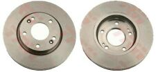 BRAKE DISCS PAIR FITS HYUNDAI SANTA FE BRAKE ENGINEERING 276MM FRONT DI956167S