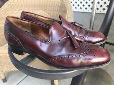 VTG CHURCH'S ENGLAND CUSTOM GRADE Slip On Tassel Loafers Shoes Oxblood Sz 9D