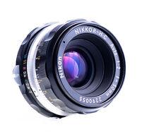Nikon Nikkor-h. C coche 50 mm f 2,0 non ai con Nikon F puerto impecable