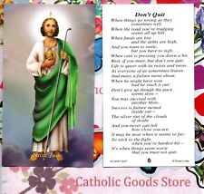 Saint St. Jude with Don't Quit  - Paperstock Holy Card