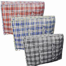 6 Large Plastic Strong Laundry Shopping Storage Reusable  Zip Bags Clothes Wash