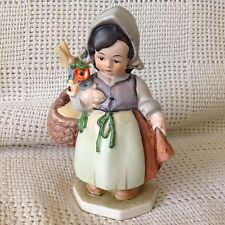 Vintage Friedel THE FLOWER GIRL West Germany Bavaria Figurine Statue -HTF