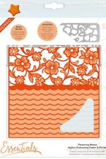 Tonic Studios Idyllics Embossing Folder & Die Set Flowering Waves 1597e