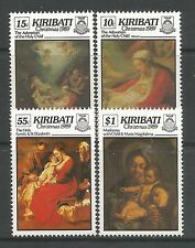 KIRIBATI. 1989. Christmas Paintings Set. SG: 318/21. Mint Never Hinged.