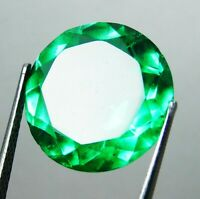 7.5 Ct.Natural Beautiful Round Cut Colombian Green Emerald Loose Gemstone.6825