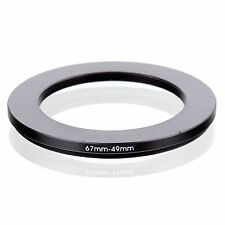 67MM TO 49MM  67-49MM 67 MM- 49 MM 67 to 49 Step Down Ring Filter Adapter